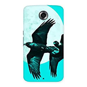 Raven Cyan Back Case Cover for Nexsus 6