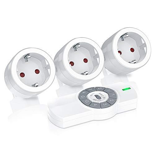 Bearware - Cajas 3 enchufe mando distancia | 1 mando