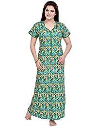 e91635fc9b Amazon.in: Greens - Nighties & Nightdresses / Sleep & Lounge Wear ...