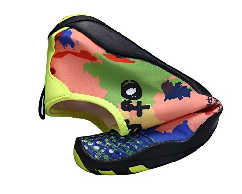 Bdawin Water Shoes Unisex Scarpe Acqua Rapida Asciugatura Pelle Scarpe Piedi Nudi per Spiaggia Nuotare Surf Yoga(Donna/Uomo/Ragazzo) Camo