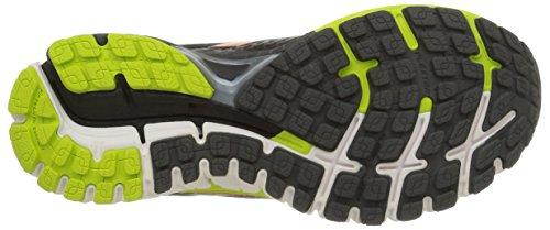 Brooks Adrenaline Gts 15, Chaussures de Sport Homme multicolore (Anthracite/Lime Punch/Orange)
