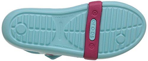 Crocs Keeley Springtime Ps, Sandales Fille Bleu (Ice Blue/Raspberry)