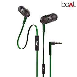 boAt Bass Heads 225 In-Ear Headphones with Mic (Forest Green)
