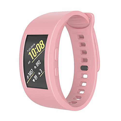 MMLC Sansung Gear Fit 2 / Gear Fit 2 Pro Armband Silikon Sportarmband Sport Band Uhrenarmband (Pink, 140mm-220mm) Fit Silikon