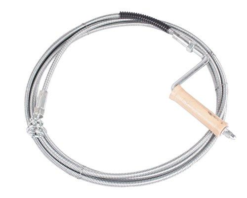 Profi Rohrreinigungsspirale 10mm 10m lang mit auswechselbarem Trichterbohrer