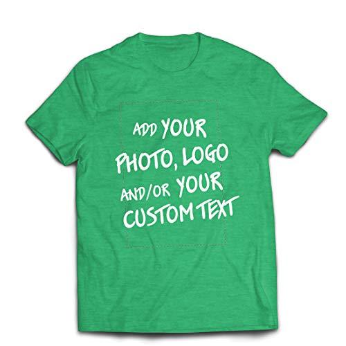 lepni.me Männer T-Shirt Individuelles personalisiertes Geschenk, Firmenlogo, eigenes Design oder Foto hinzufügen (Small Heidekrautgrün Mehrfarben)