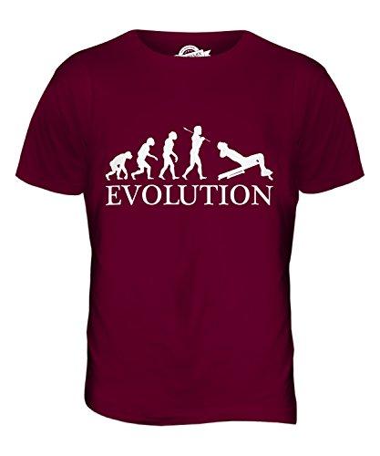 CandyMix Sit-Up Evolution Des Menschen Herren T Shirt Burgunderrot