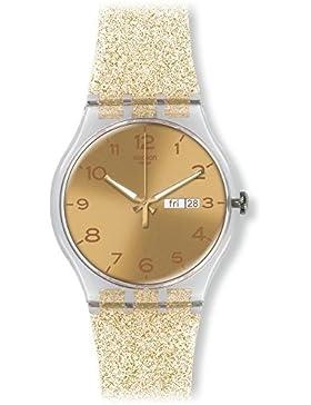 Swatch Damen Armbanduhr Digital Quarz Silikon SUOK704