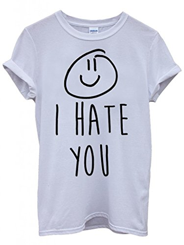 i-hate-you-x-smiley-cool-dope-funny-hipster-swag-white-weiss-damen-herren-men-women-unisex-top-t-shi