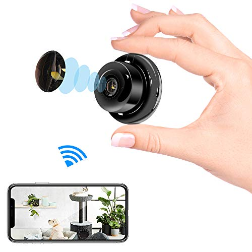 Sonkir Mini-IP-Kamera WiFi Home Security Nanny Camcorder mit Zwei-Wege-Audio-Bewegungserkennung Nachtsicht(Upgrade-Version)