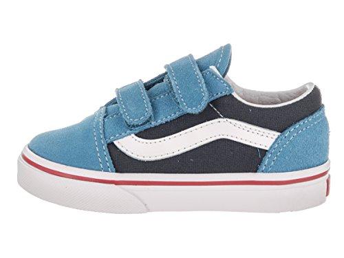 Vans Uy Old Skool V, Scarpe da Ginnastica Basse Bambino Cendre Blue/parisian Night
