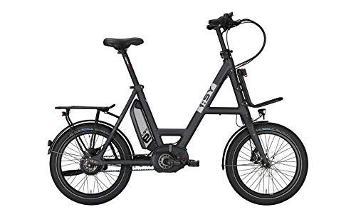 ISY Kompakt E-Bike 20 Zoll- Drive XXL N3.8 ZR- Bosch Performance Line Cruise Mittelmotor, Enviolo, Akku 500 Wh, grau