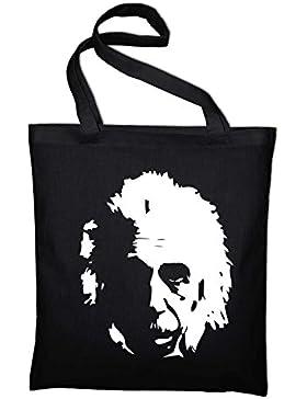 Albert Einstein Jutebeutel, Beutel, Stoffbeutel, Baumwolltasche