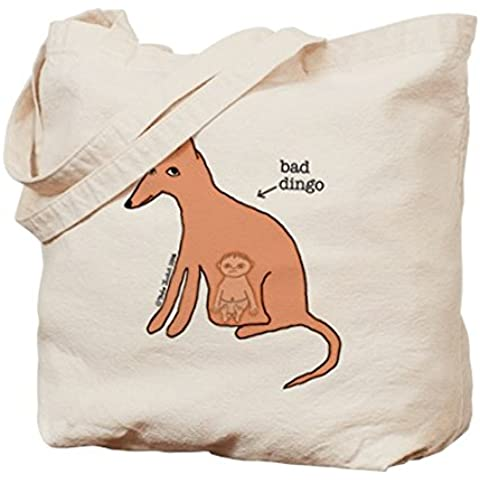 CafePress, motivo: Bad Dingo (TM)–Borsa di tela naturale, panno borsa per la spesa