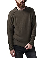 Urban Classics Herren Sweatshirt Raglan Wideneck Sweater