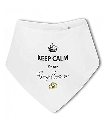 Keep Calm Im The Ring Bearer funny wedding - Baby Bandana Bib