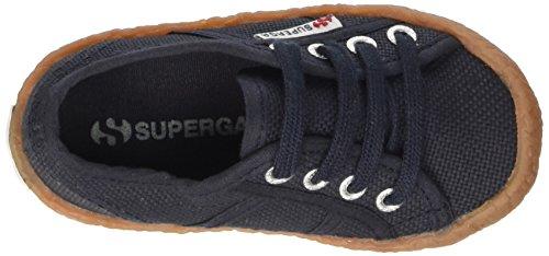 Superga 2750-Naked Cotj, Chaussures de Football Mixte Bébé bleu (Blu (Navy))