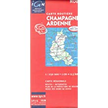 Carte routière : Champagne-Ardenne
