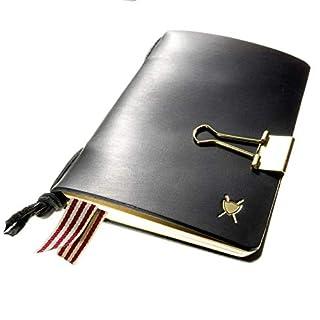 LIEBHARDT Notizbuch Leder A6 mit Moleskine Notizheft nachfühlbar achtsam in Deutschland gefertigt Geschenk Männer/Frauen (schwarz)