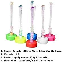 10 pcs Mini lámpara de fibra óptica, battery operated colorée vela LED Navidad Decoration Candle