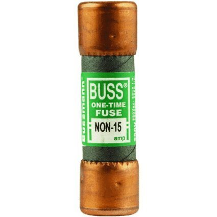 Bussmann NON-15 15 Amp One-Time Cartridge Fuse Non-Current Limiting Class K5, 250V UL Listed by Bussmann
