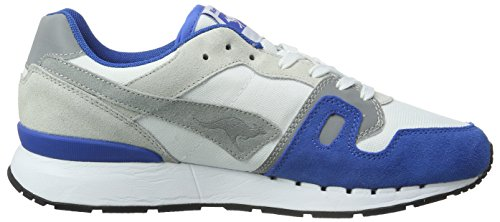 KangaROOS Omnicoil Ii, Baskets Basses Mixte Adulte, Einheitsgröße Multicolore - Mehrfarbig (Lt Grey/Royal Blue 247)