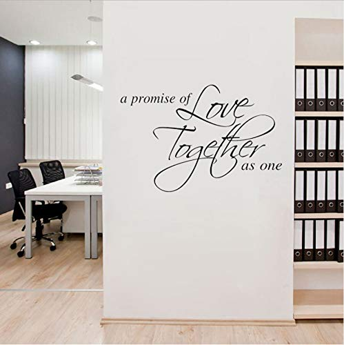 Ein Versprechen der Liebe zusammen als ein Zitat Inspirational PVC Wall Sticker 43x64cm