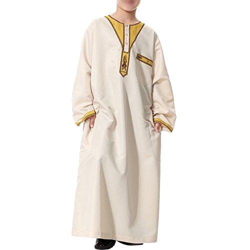 Für Jungen Muslim Kostüm - Haodasi Kinder Kurta Arabisch Islamisch Kostüme Ethnische Kleidung Jugend Robes Kids Jungen Dishdasha Muslim Thobe Volle Länge Türkei Mittlerer Osten Dubai Kandoura,TH872