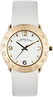 Marc Jacobs Women's Quartz Watch With Leather Mbm1150, White Band, Analog Dis