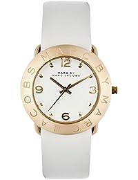 Marc Jacobs MBM1150 - Reloj con correa de acero para mujer, color blanco / gris