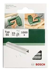 Bosch 2609255844 Set de 1000 agrafes à fil plat Type 55 Largeur 6 mm Epaisseur 1,08 mm Longueur 18 mm