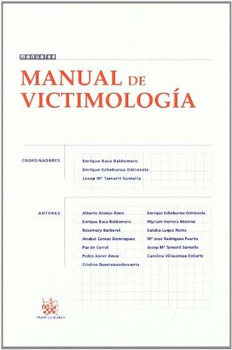 Portada del libro Manual de victimología
