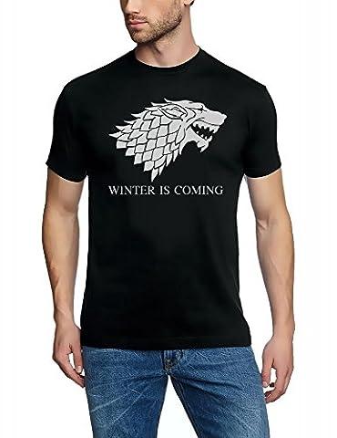 WINTER IS COMING - Game of Thrones, T-SHIRT, schwarz-grau GR.5XL