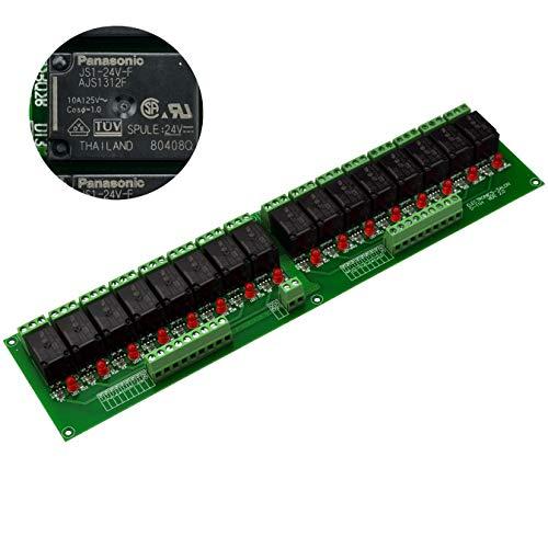 Electronics-Salon 16 SPDT Relais de puissance, Module Relais , 24 V bobine, 10 A 277 Vac/30 VDC.