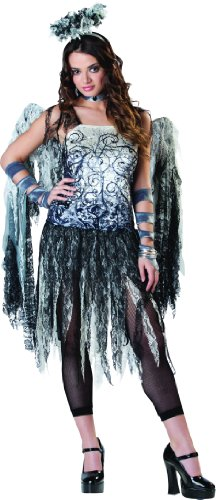 Adult Woman's Halloween Dark Ragged Fallen Angel Fancy Dress Costume (Fallen Angels Fancy Dress Kostüme)