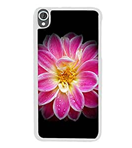 Pink Flower 2D Hard Polycarbonate Designer Back Case Cover for HTC Desire 820 :: HTC Desire 820 Dual Sim :: HTC Desire 820S Dual Sim :: HTC Desire 820q Dual Sim :: HTC Desire 820G+ Dual Sim
