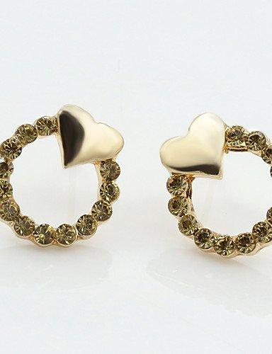 Erica A forma di cuore,Gioielli 1 paio Alla moda Oro Lega / Strass Matrimonio / Feste / Quotidiano / Casual / Sport , gold-one size , gold-one size