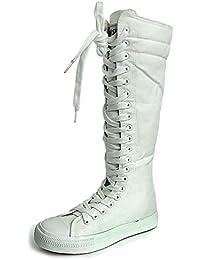 Mauea Mujeres Los Zapatos de Lona Plano con Bailar Botas De Lona De Zapatos Deporte Zapatos
