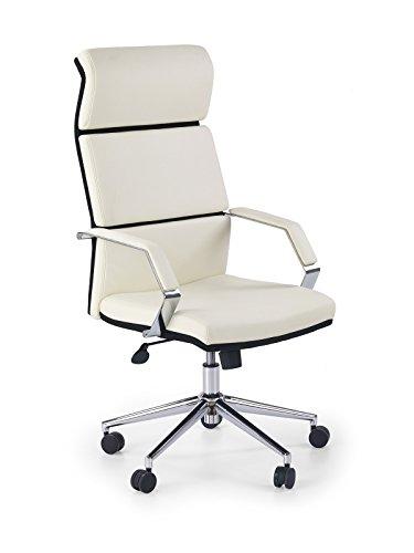 CARELLIA Fauteuil DE Bureau Design - Noir/Blanc