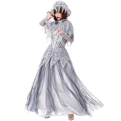 HONGBI Damen Zombie-Braut Kostüm, Kleid, Spitze und - Zombie Braut Kostüm Bilder