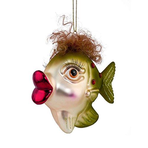 BUTLERS HANG ON Anhänger Fisch mit Locken - Stylische Weihnachtsdeko - Weihnachtsschmuck...