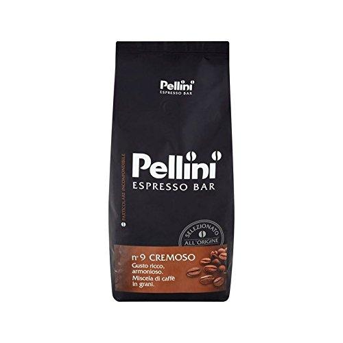 Pellini No.9 Cremeso Granos De Café Tostado 1Kg (Paquete de 6)