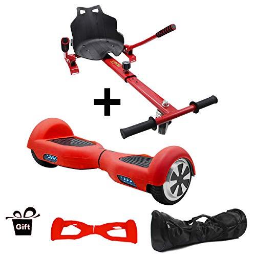 Hiboy Pack de Asiento Kart Rojo con Patin Negro y Funda Roja