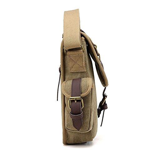 Sacchetto di spalla del messaggero di affari degli uomini del sacchetto di spalla della tela di canapa Brown