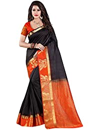 NIRJA CREATION WOMEN'S MULTI LATEST PARTYWEAR BANARASI SAREE