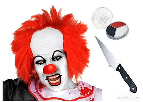see-me-in-that Scary Killer Clown Halloween ES Film Spooky Messer Face Farbe (Perücken Clown Scary)