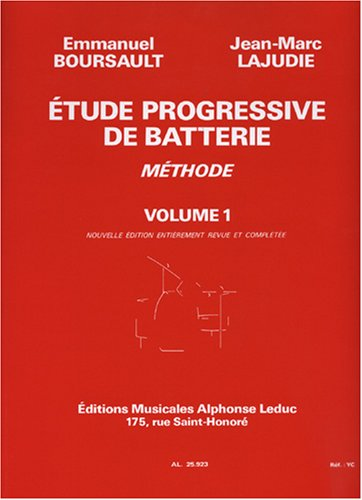 Etude progressive de batterie volume 1