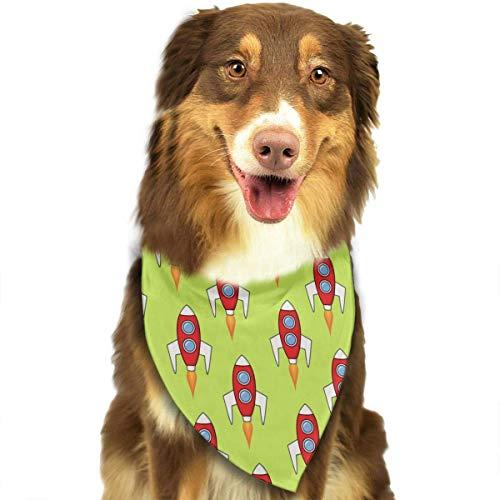 Kostüm Mann Rocket - Space Rockets Pet Dog Cat Bandanas Triangle Bibs Pet Scarf Dog Neckerchief Headkerchief Pet Accessories