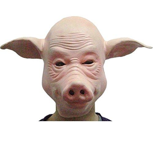 UDreamTime Neuheit Halloween-Kostüm-Party-Schwein-Maske Latex (Maske Schweine Erwachsene Latex)