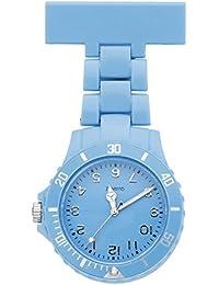 JSDDE Women's Girls' Fashion Nurse Clip-on Fob Brooch Lapel Hanging Pocket Watch, Azure